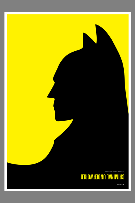 "jacobreed:  Awesome Batman/Penguin poster by Simon C Page. I believe the word you're looking for is ""Aaahh""!"