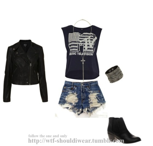 wtf-shouldiwear:  Rock Concert Look