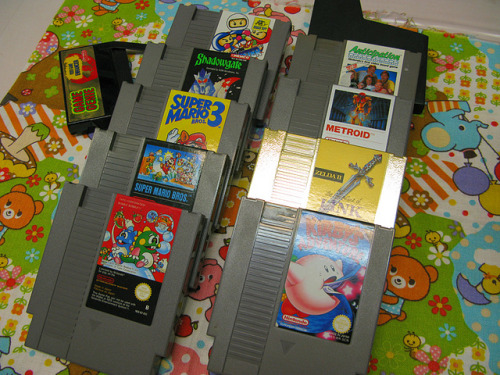 saynotodrugsunlesstheyrefree:  NES games by Helena / Funny Bunny on Flickr.