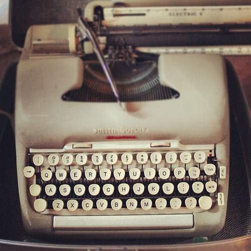 Reminds me of my first typewriter…a gift when I was in third grade. That's a writer for you. #writers