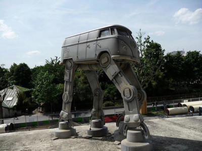 oliphillips:  Volkswagen Bus AT-AT Walker Via