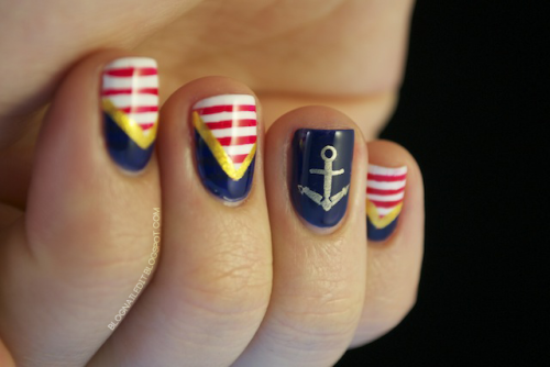 blognailedit:  Sailor Nails