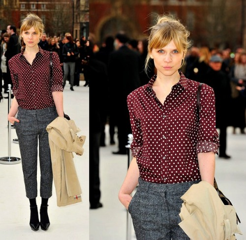 Clemence Poesy in Burberry