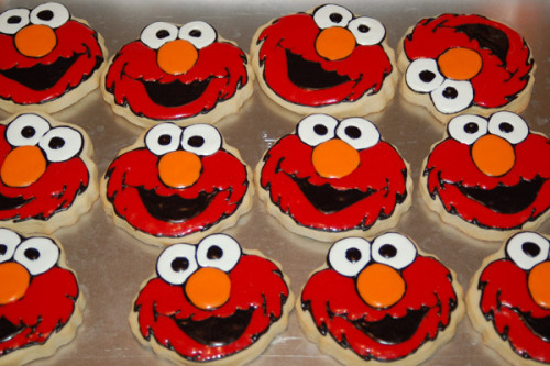 amazing elmo sugar cookies.