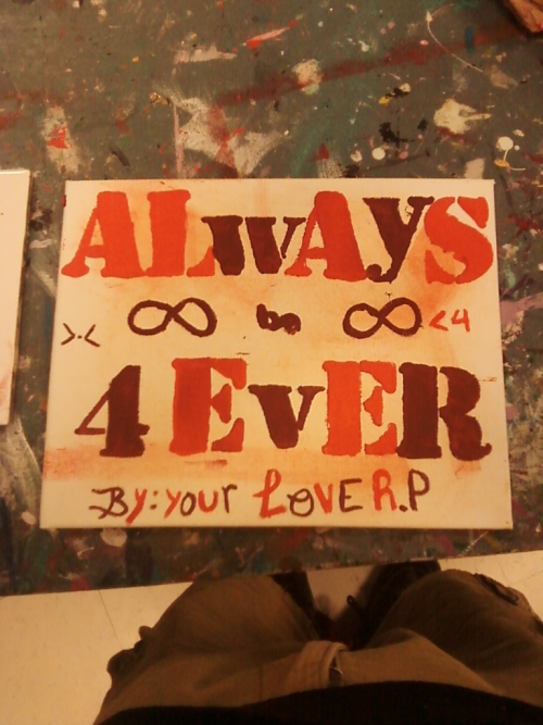 Awe he made me a painting aha (: