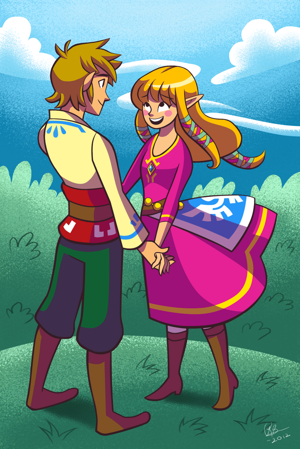 zelink-fans:  Skyward Sword: Link and Zelda by shine-sprite