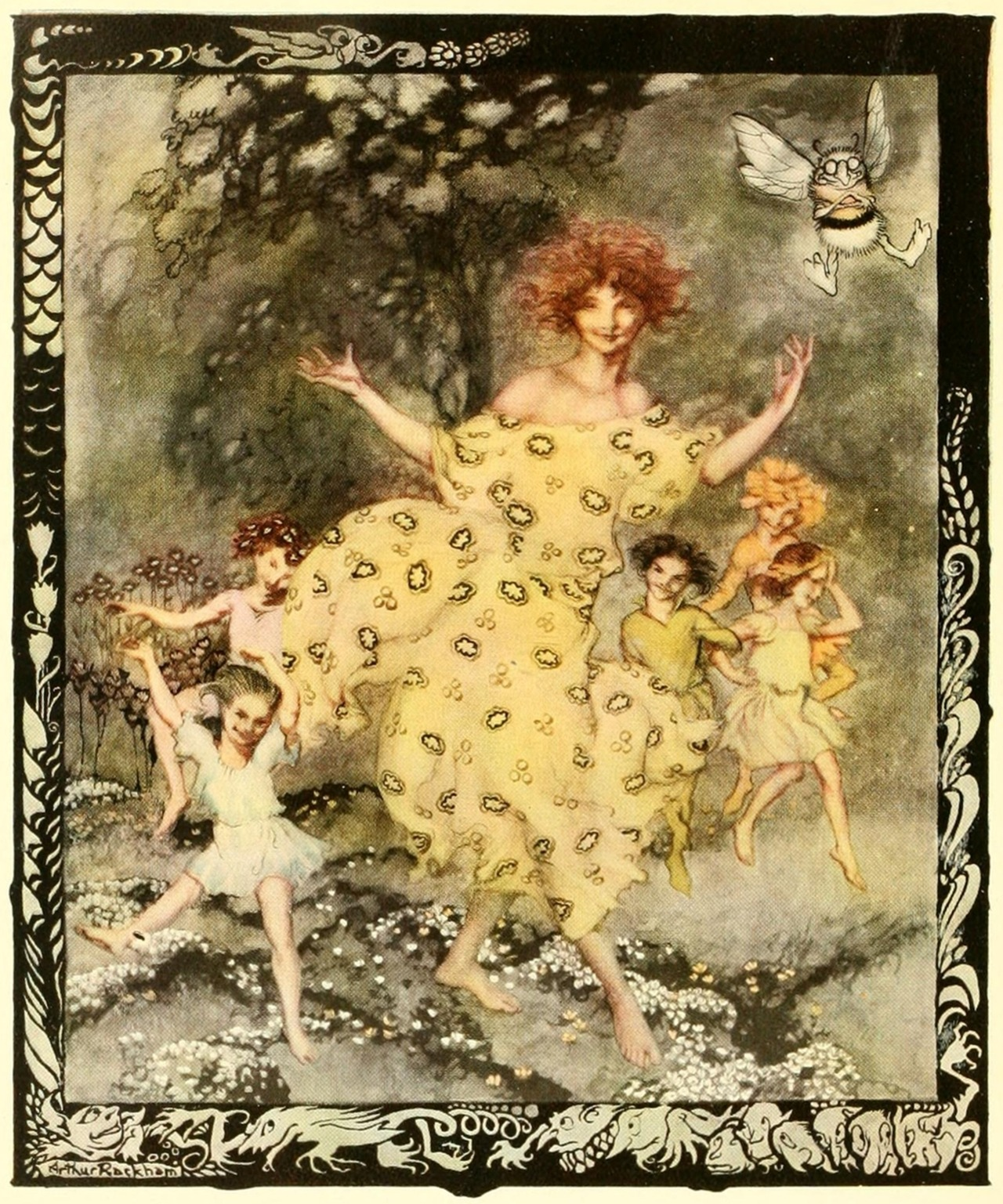Arthur Rackham ~ Dance of Spring ~ 1919 ~ via