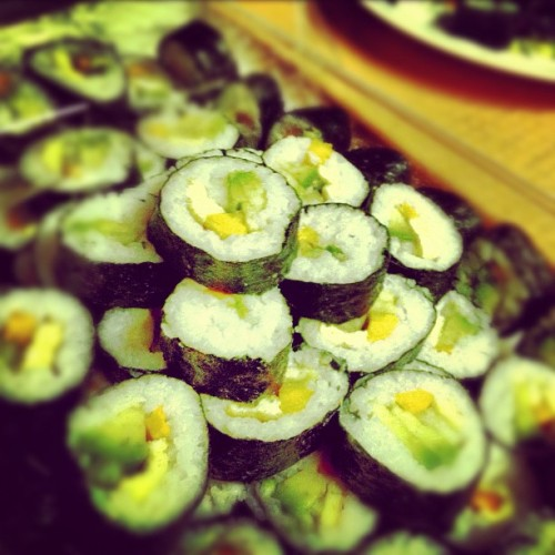 #sushi #delicious #nomnom #seaweed #veggie #rice #asian #food (Taken with instagram)