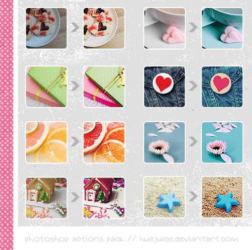 resources4u:  Photoshop Actions Pack by ~huejuice