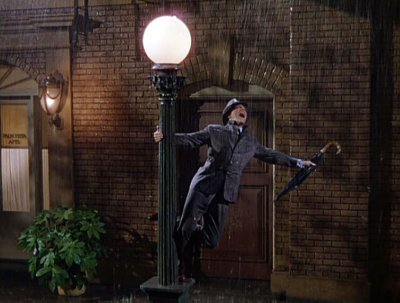 "Singin' In The Rain ""The rain consisted of a mixture of water and milk so it would show up better on film but it caused Gene Kelly's wool suit to shrink."""