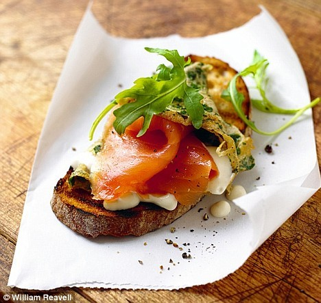 smoked salmon egg toast