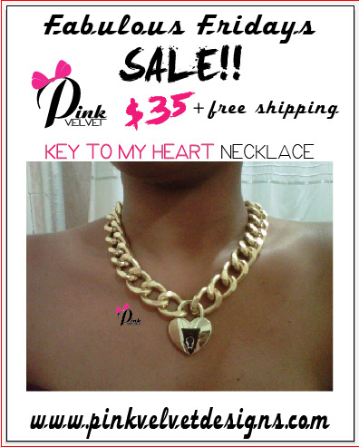 "Fabulous Friday Sale….""Key 2 My Heart ""Necklace only $35 with free shipping anywhere in the USA. Friday (2/24/12) only!!!!!"