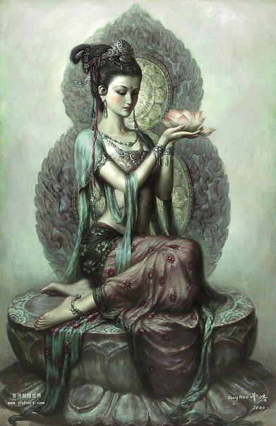 "ozonebaby:  ~Tara is the mother of all Buddhas. The name Tara means ""she who saves~ Buddhist Goddess Kuan Yin Prayer for the Abuser  To those who withhold refuge… I cradle you in safety at the core of my Being…  To those that cause a woman to cry… Or abuse her sexually…. I grant you the freedom to express your own choked agony…..  To those that inflict terror,… I remind you that you shine with the purity of a thousand suns….  To those who would confine, suppress, or deny… I offer the limitless expanse of the sky….  To those who need to cut, slash, or burn… I remind you of the invincibility of Spring….  To those who cling and grasp… I promise more abundance than you could ever hold onto….  To those who vent their rage on small children… I return to you your deepest innocence….  To those who must frighten into submission… I hold you in the bosom of your original mother….  To those who cause agony to others… I give the gift of free flowing tears….  To those that deny another's right to be… I remind you that the angels sang in celebration of you on the day of your birth….  To those who see only division and separateness… I remind you that a part is born only by bisecting a whole….  For those who have forgotten the tender mercy of a mother's embrace… I send a gentle breeze to caress your brow.  To those who still feel somehow incomplete… I offer the perfect sanctity of this very moment….  …………………………………………… "" I Light a candle for all the abused, especially the abused woman who is raped or grabbed, forced into un- wanted  acts..from an so called"" lover or boyfriend or husband"" Remember this is not right and no one should have to endure this and  no one should promote this type of abuse towards women"""