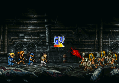 albotas:  A Little Bit On The Metal Slug x Resident Evil Side: This mash-up art by dollarcube on deviantART makes me wish this was a real game.