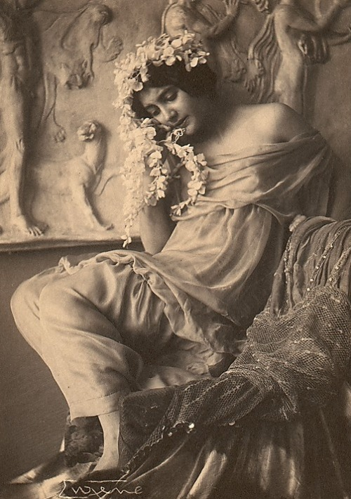 avanishedtime:  Frank Eugene - Fritzi von Derra, The Greek Dancer, c.1900s
