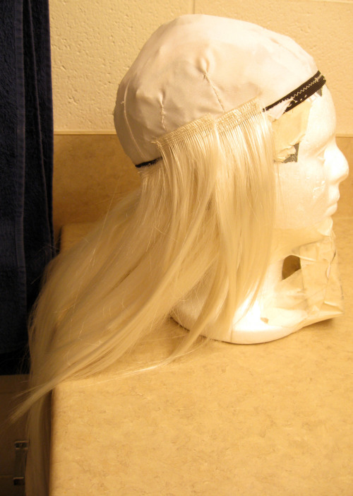 Sewing a wig from scratch.