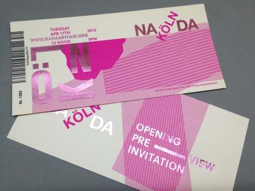 Nada Cologne : Printed invites back from press