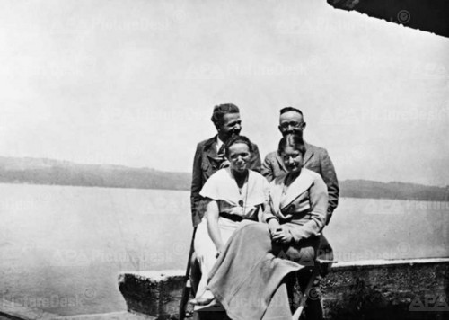 kathazahler:  In this photo we have Hanns Johst, Heinrich Himmler, Marga Himmler, and Edith von Cole in the 2nd of Augst 1933…I believe that the photo was taken at or near Heinrich's house in Gmund.