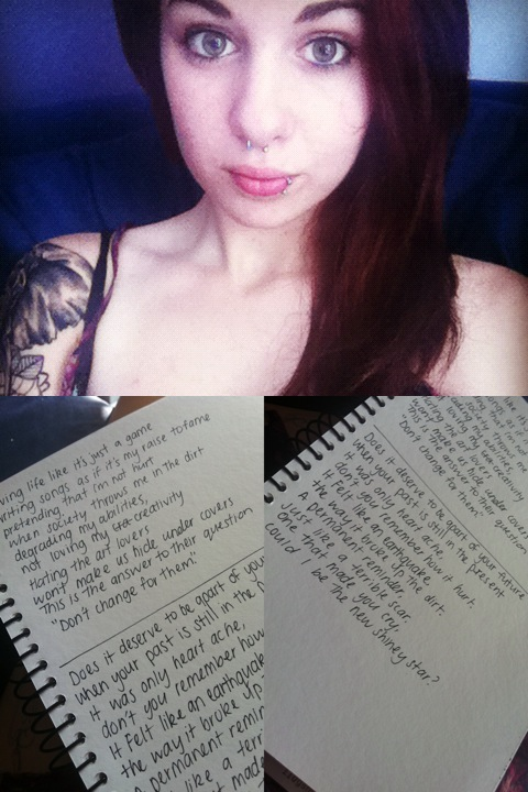 Myself at the moment and other lyrics that I just wrote aswell :):)