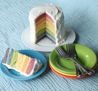xomgitsnikkiix: Rainbow Cake With Natural Dyes