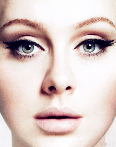 (via Adele Face Close-Up Vogue Magazine – Photo)