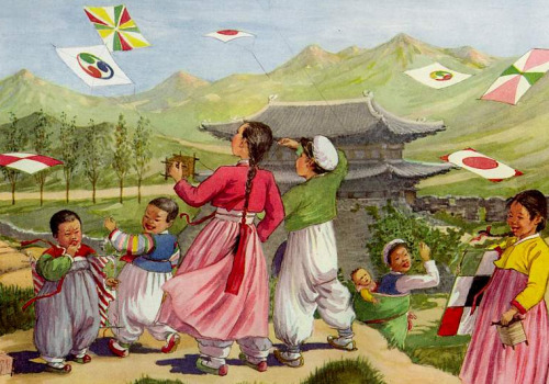srjoo:  Vintage 1946 Korean Art print. ~