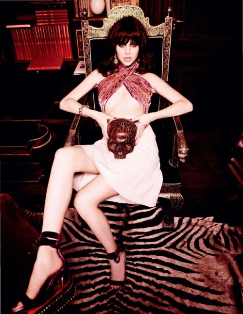 Anais Pouliot • Ellen von Unwerth • Vogue Russia, March 2012