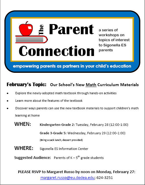 February Parent Connection Info