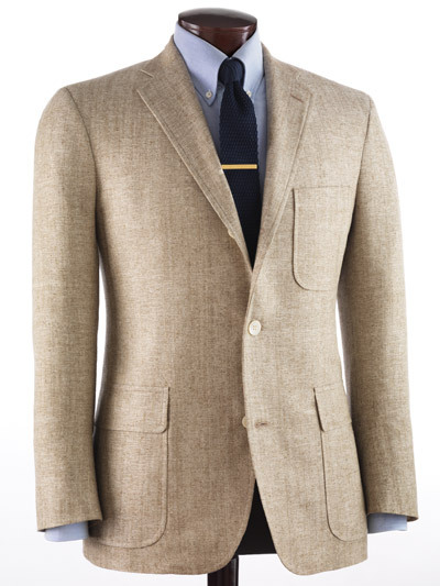 J. Press Heritage Trim-Fit Solid Silk Sports Coat