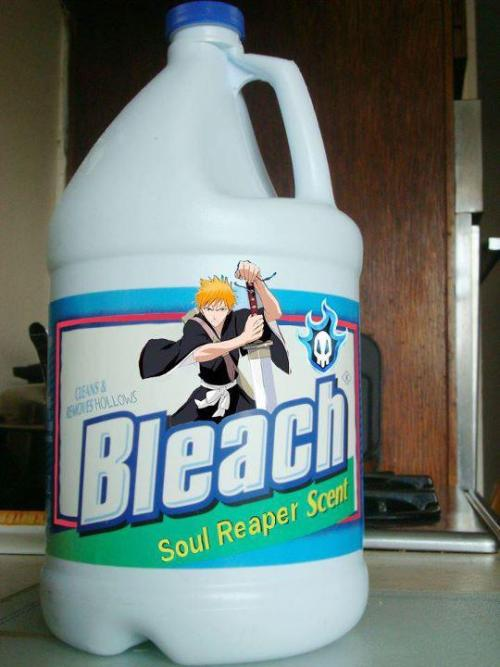 Parecen propagandas del ceic  animemuch:  If this is the Bleach i will use when laundrying .. // I can Wash all my clotheswith a minimal usage of time :)) // *mad scientist *