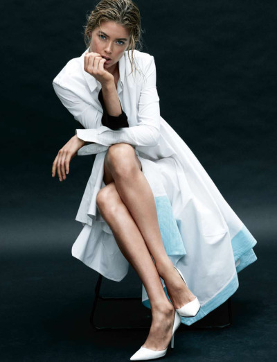 DOUTZEN KROES Features on the march 2012 issue of the Harper's Bazaar US, photographed by Daniel Jackson and styled by Alastair McKimm