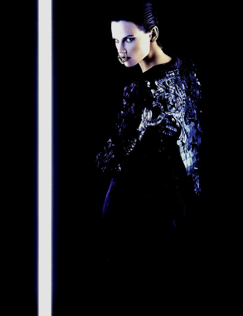 Neo Couture. Saskia de Brauw in Givenchy Spring 2012 haute couture; photographed by Karl Lagerfeld for Numéro #131, March 2012.