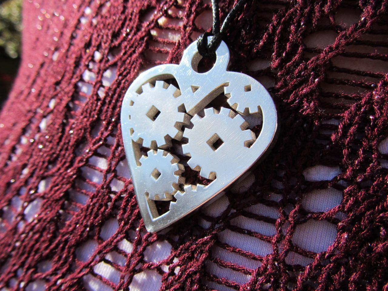 Prototype updates: The 'Love Machine' pendant in sliver works really well