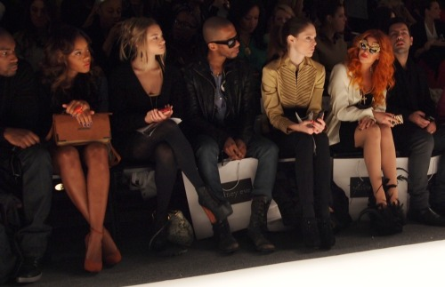 Coco Rocha at the Whitney Eve Show at Mercedes Benz Fashion Week Show in New York.