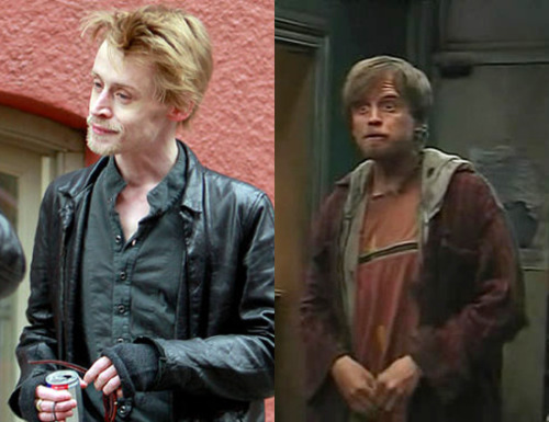 "Look-alikes: MaCaulay Culkin from Home Alone fame is starting to remind people of fictional character Matthew ""Rickety Cricket"" Mara from the TV show It's Always Sunny in Philadelphia."