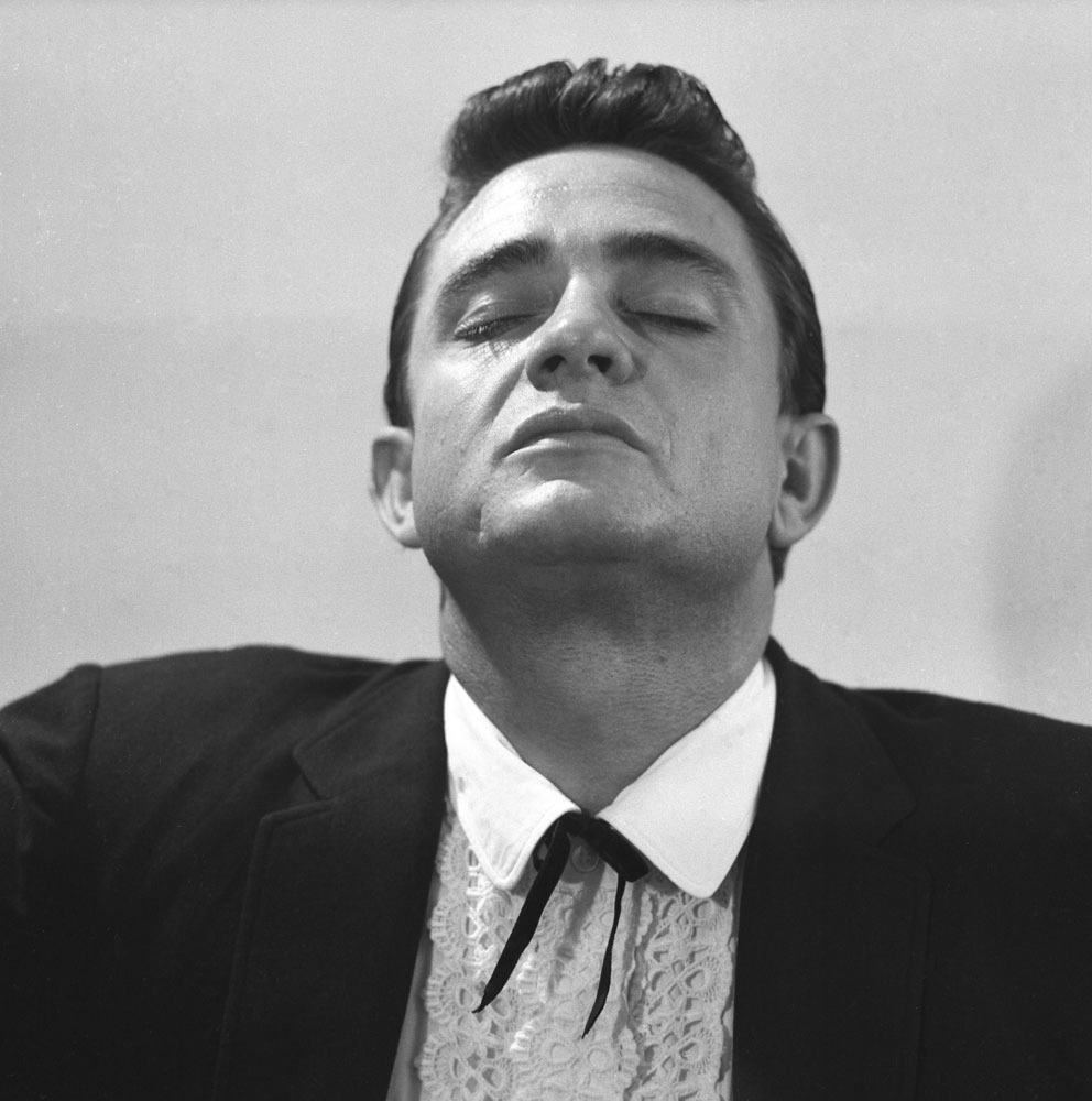 Don Hunstein—Sony Music Archive Johnny Cash, October 1959.  To celebrate the anniversary of his birth on Feb. 26, photographs of the county-music master from the Sony Music Archive. See more here.