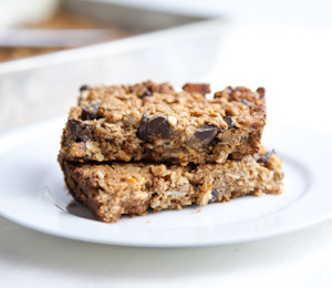 findvegan:  Protein-Packed Granola Bars with Chocolate Chips