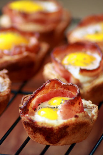 bacon & eggs in toast cups click here for recipe