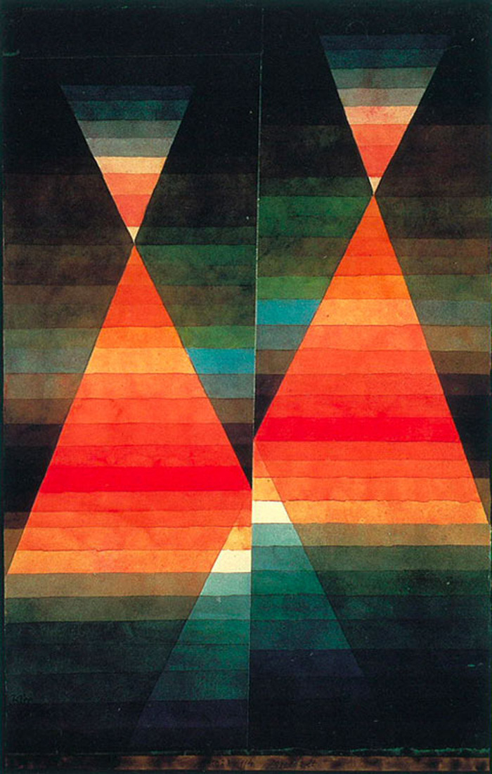 2headedsnake:  sophiemunns.blogspot.com Paul Klee. Double Tent. 1923. Water color and pencil on paper. 50.6 x 31.8 cm.