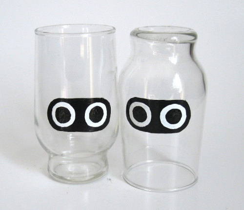 Hand Painted Mario Blooper Drinking Glassesby BasementInvaders - $20.00 for the set of two (submitted by Pwnlove)