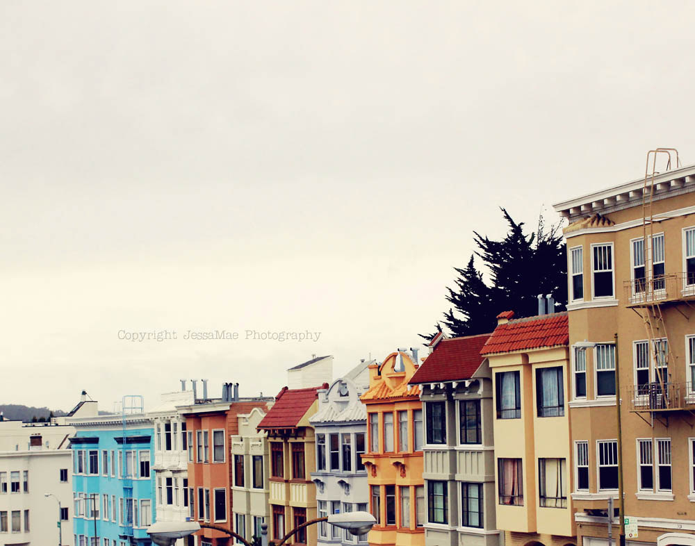 San Francisco Colorful Houses Photograph Print by JessaMaePhoto