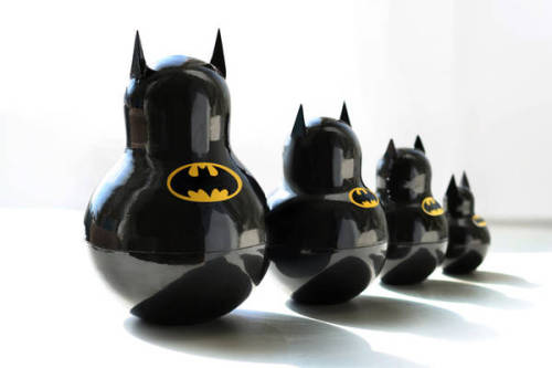 Russian sculptor Katya Malakhova created a set of Batman matrioshkes  that — judging from the description — actually nest. I wonder if the  ears are hollow?