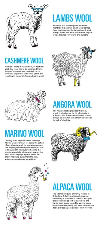 ilovecharts:  Know Your Wool