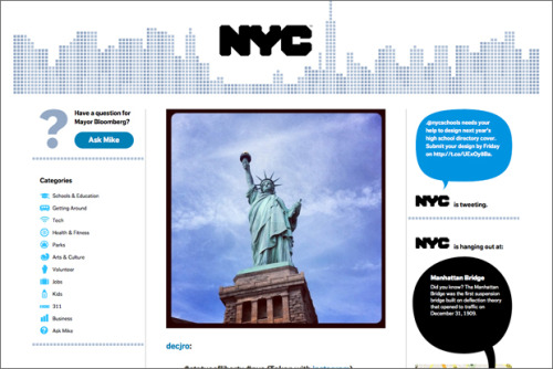 """10 Ways NYC is Embracing Technology"" (Source: www.mikebloomberg.com)"