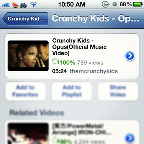 Almost 800 views in 24 hours! Sweet! If u haven't seen our new vid yet.. Check it  (Taken with instagram)