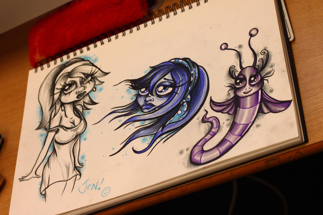 some other stuff i drew the other day :-) http://www.facebook.com/tattoostudioseaham
