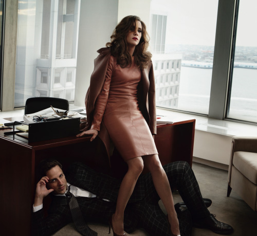 vogue:  Kristen Wiig and Seth Meyers Photographed for the March Issue of Vogue
