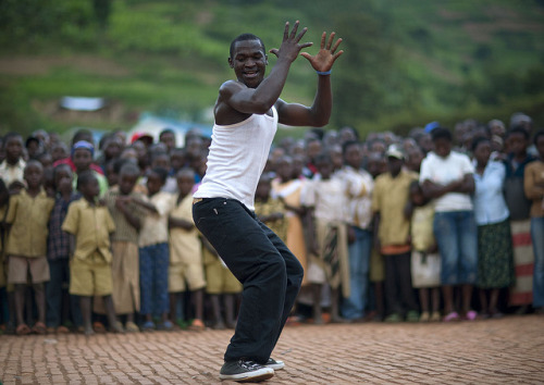 faith-in-humanity:  Man during a dance battle, Rwanda by Eric Lafforgue on Flickr.