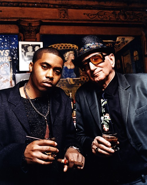 Nas & Dominic Chianese aka Uncle Junior Soprano.  when worlds collide.