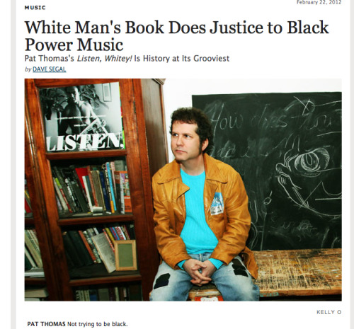 "nickminichino:  unaguerrasinfondo:  WHAT THE FUCK  ""Thomas, who is white, thinks that his outsider status was advantageous in the endeavor 'in the sense that my book has no agenda.'"" Um…  just gonna bring this back for a sec"